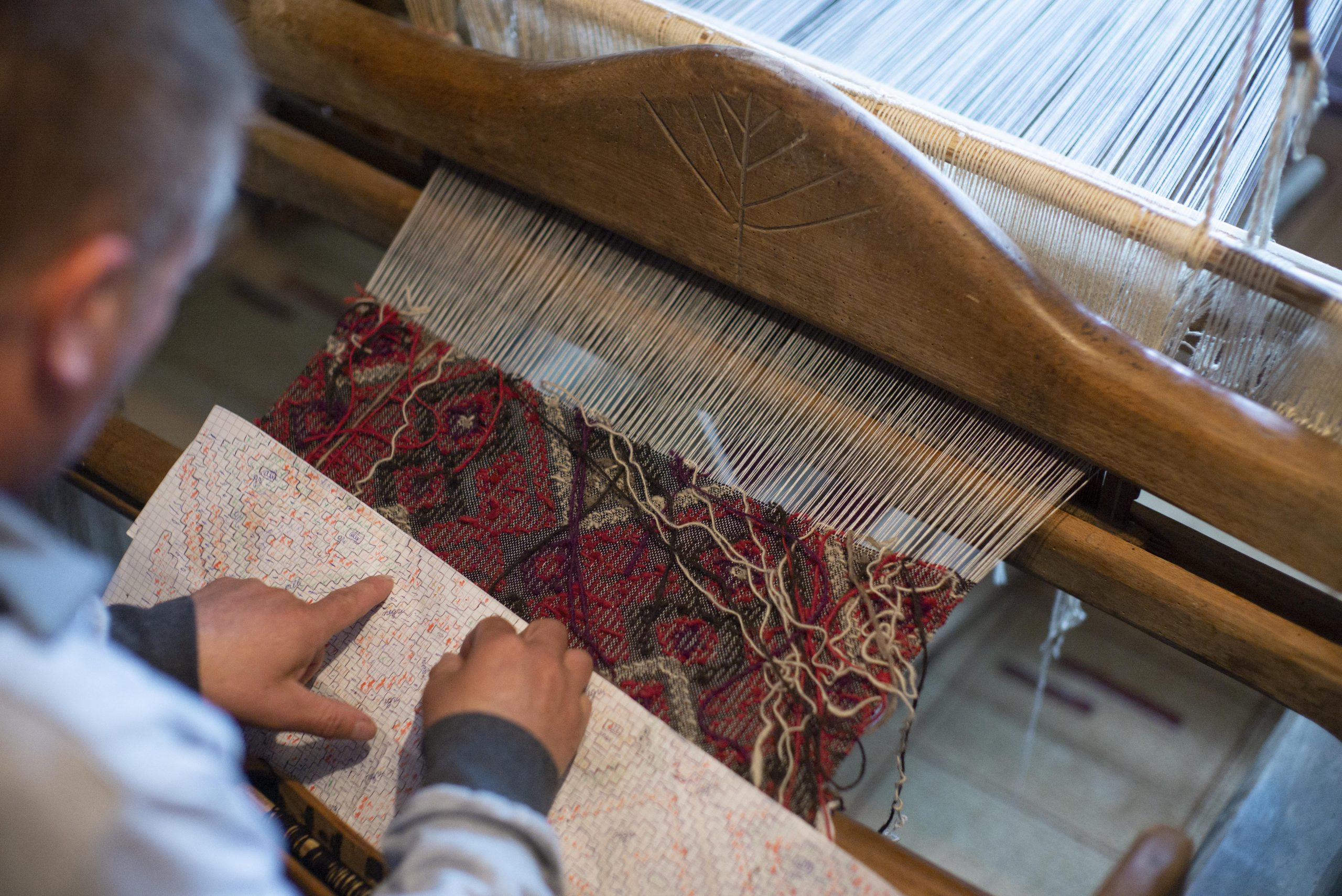 Weaving in Romania. Photo: Nafez Rerhuf
