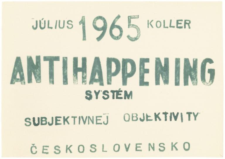 Julius Koller_Antihappening_1965_card with green stamp copy