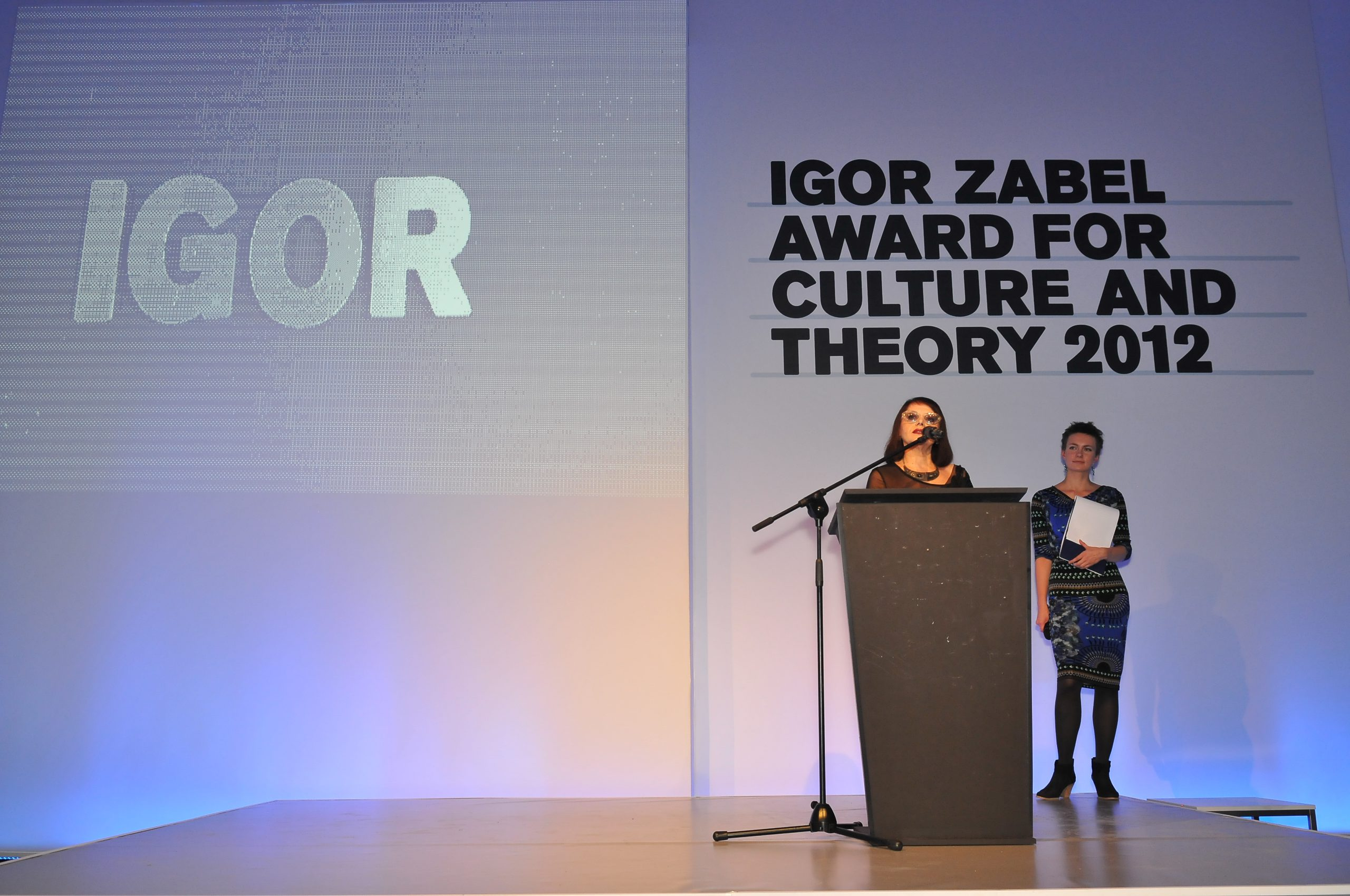 Suzana Milevska, winner of the Igor Zabel Award for Culture and Theory 2012. Photo: Marek Krzyzanek