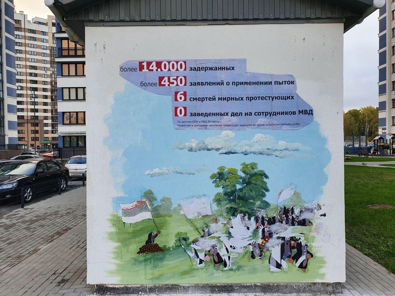 Solidarity Belarus, Photo: Ulyana Nevzorova Krtek series in public space 2020